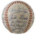 Autographs:Baseballs, 1966 St. Louis Cardinals Team Signed Baseball. Outstanding signature strength is the hallmark of the 1966 St. Louis Cardina...