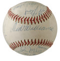 Autographs:Baseballs, 1969 Washington Senators Team Signed Baseball. Still in itsrelative infancy during the first decade of the club's existenc...