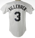 Autographs:Jerseys, Harmon Killebrew Signed Jersey. The Killer Harmon Killebrew hasleft this fine Twins white pinstripe jersey with his perfec...