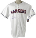 Autographs:Jerseys, Nolan Ryan Signed Jersey. Nolan Ryan, regarded among the finesthurlers to ever take the mound, offers his unimprovable sig...