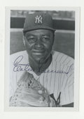 Autographs:Photos, Elston Howard Signed Photograph. The first African-American to don New York Yankees pinstripes is captured in the nice 3.5x...