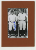 Autographs:Photos, Waite Hoyt Signed Photograph with Babe Ruth. Dazzling pitcher forthe New York Yankees Waite Hoyt figured largely in the te...