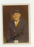 """Autographs:Photos, Cal Hubbard Signed Photograph. Tremendous 3.5x5"""" image of theimpressive Cal Hubbard, who went on to become a HOF umpire at..."""