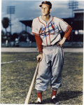 """Autographs:Photos, Stan Musial Signed Oversize Photograph. Tremendous visual appeal isthe hallmark of the oversized (16x20"""") image, which fea..."""