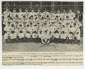 Autographs:Photos, 1943 New York Yankees Team Signed Magazine Photograph. The WorldChampion 1943 New York Yankees were commemorated on the in...
