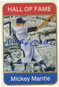 Autographs:Others, Mickey Mantle Signed Card with Funeral Service Program. One of ournation's most beloved heroes, the great Mickey Mantle is...