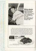 "Autographs:Others, Mickey Mantle Signed Program. In this 1977 program for a privateschool's ""Family Sports Night,"" the great Yankee legend Mi..."