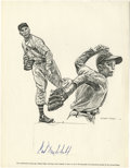 Autographs:Others, Carl Hubbell Signed Sheet. Hall of Fame screwball pitcher Carl Hubbell is the subject of this offering, as his perfect ink ...