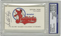 Autographs:Others, Satchel Paige Signed Business Card PSA Authentic. When the NewOrleans Pelicans minor league team moved to Springfield, IL ...