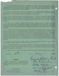 Autographs:Others, 1950 Dorothy Kaige National Girls Baseball League Signed Contract.Rare signed contract from the Bloomer Girls of the Natio...