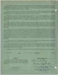 Autographs:Others, 1950 Geneva Nieukirk National Girls Baseball League Signed Contract. The National Girls Baseball League was founded in 1944,...
