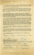 Autographs:Others, 1953 Donna Banning National Girls Baseball League Signed Contract.Donna Banning was considered a great talent and was scout...