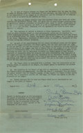 Autographs:Others, 1953 Virginia Hanselman National Girls Baseball League SignedContract. The Bloomer Girls were part of the National Girls Ba...