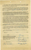 "Autographs:Others, 1953 Irene Kerwin National Girls Baseball League Signed Contract. Irene ""Pepper"" Kerwin is highly touted for her softball a..."