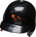 Autographs:Others, Cal Ripken, Jr. Signed Helmet. Baseball's current icon for longevity, Cal Ripken, Jr., holds the record for consecutive gam...