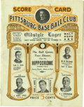 Baseball Collectibles:Publications, 1911 Pittsburgh Pirates vs. Chicago Cubs Official Scorecard. Nicevintage Pittsburgh Pirates official scorecard is from a S...