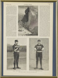"""Baseball Collectibles:Publications, 1888 """"Harper's Weekly"""" Page with Baseball Content. Two 19th centuryplayers are represented in the offered page from an 188..."""