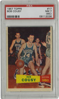 Basketball Cards:Singles (Pre-1970), 1957-58 Topps Basketball Bob Cousy #17 PSA NM 7. If not for theunfortunate centering which has resulted in a miscut qualif...