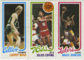 Basketball Cards:Singles (1980-Now), 1980-81 Topps Basketball Larry Bird/Julius Erving/Magic Johnson.The symbolism couldn't be more appropriate as the only off...