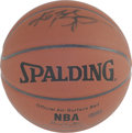 Basketball Collectibles:Balls, Kobe Bryant Single Signed Basketball. Official Spalding NBAbasketball signed by the amazing Kobe Bryant, whose prowess at ...
