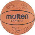 Basketball Collectibles:Balls, 1989-90 Detroit Pistons Team Signed Basketball. The Bad BoysPistons of the late 1980s and early 1990s were known for physi...