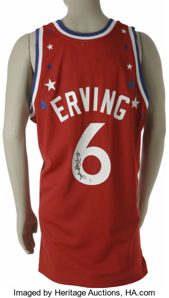 hot sale online 257d6 f94a5 Julius Erving Signed All-Star Jersey. Amazing Mitchell ...