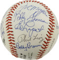 Autographs:Baseballs, 1990 First Annual B.A.T. Dinner Multi-Signed Baseball. The BaseballAssistance Team (B.A.T.) was created to aid former play...