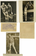 Basketball Collectibles:Others, 1954 Service Photographs Lot of 2, with Wire PhotographReproduction. Two 1954 original wire photos here have as theirfocu... (Total: 3 items)