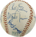 Autographs:Baseballs, New York Mets Old Timers Day Multi-Signed Baseball. Nine belovedformer ballplayers have checked in on the OAL (Cronin) th...