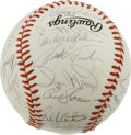 Autographs:Baseballs, New York Mets Old Timers Day Multi-Signed Baseball. A total of 33former greats of the game have checked in on the ONL (Fee...