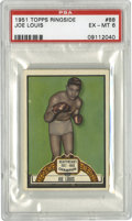 Boxing Cards:General, 1951 Topps Ringside Joe Louis #88 PSA EX-MT 6. The Brown Bomber makes an entry in the classic 1951 Topps Ringside boxing se...