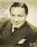 Boxing Collectibles:Autographs, 1946 Max Baer Signed Photograph. Max Baer was such a powerful puncher that he ended the life of Frankie Campbell with only ...