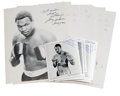 Boxing Collectibles:Autographs, Larry Holmes Signed Photographs Lot of 28. The heavyweight heroLarry Holmes is sure to make dealers and boxing fans alike ...(Total: 28 items)