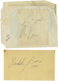 Boxing Collectibles:Autographs, Max and Buddy Baer Signed Cuts Lot of 2. In the 1930s the BrothersBaer figured prominently in the heavyweight boxing world,...