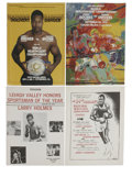 Boxing Collectibles:Memorabilia, 1976-81 Larry Holmes Programs Lot of 26. Tremendous dealer appeal is evident upon taking a gander at the stack of Larry Hol... (Total: 26 items)