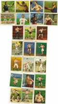 Boxing Collectibles:Memorabilia, 1910-11 Vintage Champion Athlete and Prize Fighter Series Lot of 62. Great assortment of boxing and track and field athlete...