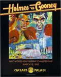 Boxing Collectibles:Memorabilia, 1982-88 Larry Holmes vs. Jerry Cooney and Mike Tyson Lot of 6. Fine half dozen fight posters from the career of the great L...
