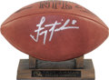 Football Collectibles:Balls, Troy Aikman Single Signed Football. Tremendous silver sharpie signature occupies nearly an entire panel of the official Wil...