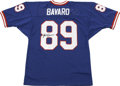 Football Collectibles:Others, Mark Bavaro Signed Jersey. The tough tight end Mark Bavaro was known across the league for his ferocity and sheer strength ...