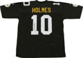 Football Collectibles:Others, Santonio Holmes Signed Jersey. Ohio State standout and current Pittsburgh Steeler wideout Santonio Holmes was the only rece...