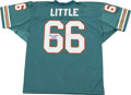 Football Collectibles:Others, Larry Little Signed Jersey. Hall of Fame Miami Dolphins guard Larry Little was instrumental in that team's success during t...