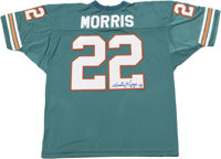 Mercury Morris Signed Jersey. The Miami Dolphins running back Mercury Morris has left a fine blue sharpie signature to t...
