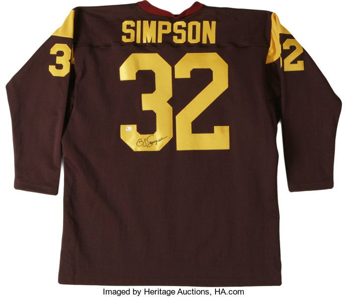 detailed look 5f930 32c8d O.J. Simpson Signed USC Jersey. Tremendous throwback jersey ...