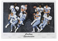 Football Collectibles:Others, Dallas Cowboys All-Time Greats Multi-Signed Lithograph. The Dallas Cowboys greats of the 1970s and 1980s contributed to the...