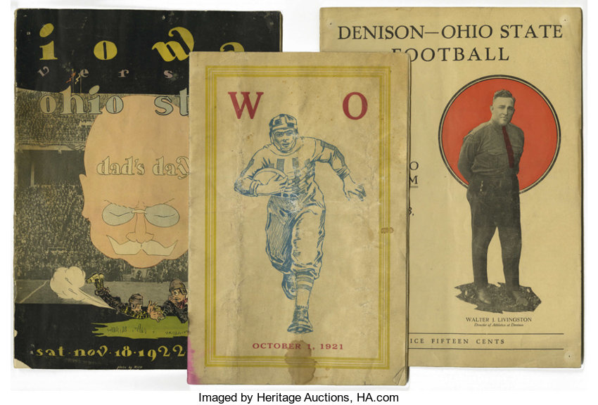 9ab73a60 Football Collectibles:Publications, 1921-76 Ohio State Football Programs  Lot of 6.