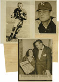 Football Collectibles:Photos, 1954 Original Wire Photos Lot of 6, with 3 Wire Photo Reproductions. A half dozen of the offered nine photographs are origi... (Total: 9 items)