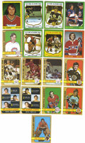 Hockey Cards:Lots, 1972-73 Topps Hockey Complete Set (176) and 1973-74 Topps HockeyNear Set (197/198). Excellent photography and great use of...