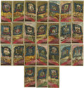 Miscellaneous Collectibles:General, 1888 Allen & Ginter N11 Flags of the United States andTerritories Group Lot of 24. Tremendous vintage group of two dozene...