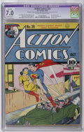 Golden Age (1938-1955):Superhero, Action Comics #29 (DC, 1940) CGC Apparent FN/VF 7.0 Moderate (P) Off-white to white pages. First Lois Lane cover. Bondage co...