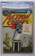 Golden Age (1938-1955):Superhero, Action Comics #83 (DC, 1945) CGC FN+ 6.5 Off-white to white pages. First appearance of Hocus and Pocus. Joe Shuster cover. A...